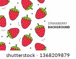 strawberry background. isolated ... | Shutterstock .eps vector #1368209879