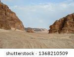 road in the desert. south sinai.... | Shutterstock . vector #1368210509