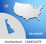 delaware on usa map with map of ...