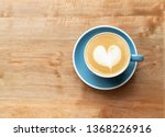 Top View Of Hot Coffee Cup With ...