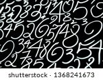 seamless numbers background.... | Shutterstock . vector #1368241673