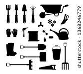 vector set of tools for... | Shutterstock .eps vector #1368246779