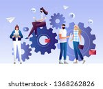 business concept of vector... | Shutterstock .eps vector #1368262826