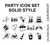 hand drawn simple set of party... | Shutterstock .eps vector #1368280439