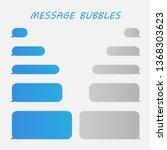 message bubbles chat vector.... | Shutterstock .eps vector #1368303623