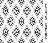 tribal seamless background.... | Shutterstock .eps vector #1368303896