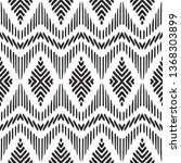 tribal seamless background.... | Shutterstock .eps vector #1368303899