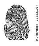 people fingerprint isolated on... | Shutterstock .eps vector #136831094