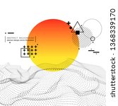 3d digital dynamic wave... | Shutterstock .eps vector #1368339170