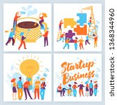 vector concept business... | Shutterstock .eps vector #1368344960