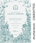 lovely garden. vector... | Shutterstock .eps vector #1368347933