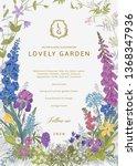 lovely garden. vector... | Shutterstock .eps vector #1368347936