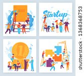 vector concept business... | Shutterstock .eps vector #1368368753