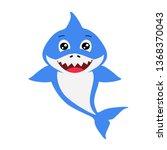 Cute Blue Decorative Boy Shark...