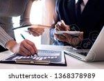 concept of digital marketing... | Shutterstock . vector #1368378989