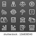 finance icon set | Shutterstock .eps vector #136838540