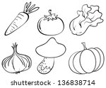 illustration of the doodle... | Shutterstock .eps vector #136838714