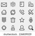 web icon set | Shutterstock .eps vector #136839029