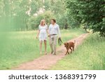 beautiful husband and his... | Shutterstock . vector #1368391799