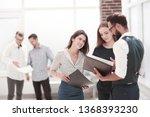 business team discussing... | Shutterstock . vector #1368393230