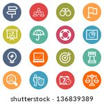 bussiness strategy icon set | Shutterstock .eps vector #136839389
