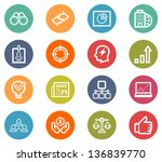 business icon set | Shutterstock .eps vector #136839770