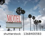 aged and worn motel sign with... | Shutterstock . vector #1368400583