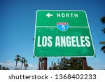 aged and worn los angeles... | Shutterstock . vector #1368402233