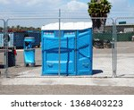 handicap portable  toilet on... | Shutterstock . vector #1368403223