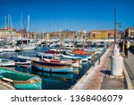 corsica ferries nice harbor in... | Shutterstock . vector #1368406079