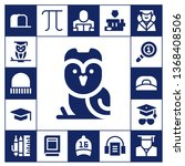 knowledge icon set. 17 filled... | Shutterstock .eps vector #1368408506