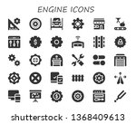 engine icon set. 30 filled... | Shutterstock .eps vector #1368409613