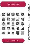 responsive icon set. 25 filled... | Shutterstock .eps vector #1368409826