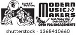modern music makers   retro ad... | Shutterstock .eps vector #1368410660