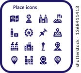 place icon set. 16 filled place ... | Shutterstock .eps vector #1368411413