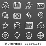 social media icon set | Shutterstock .eps vector #136841159