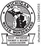michigan water wonderland  ... | Shutterstock .eps vector #1368414353
