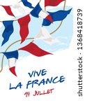 happy bastille day poster.... | Shutterstock .eps vector #1368418739