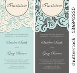 beautiful vintage invitations... | Shutterstock .eps vector #136842320