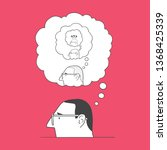 the concept of thinking thought | Shutterstock .eps vector #1368425339