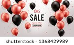 big sale background. red and... | Shutterstock .eps vector #1368429989