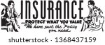 insurance   retro ad art banner | Shutterstock .eps vector #1368437159
