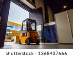 Forklift Leaves The Warehouse...
