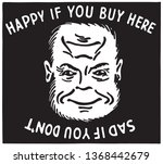 happy if you buy here   retro... | Shutterstock .eps vector #1368442679