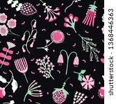 1950s style flower bloom... | Shutterstock .eps vector #1368446363