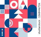 colorful geometric minimalist... | Shutterstock .eps vector #1368446726