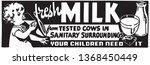 fresh milk   retro ad art banner   Shutterstock .eps vector #1368450449