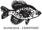 flounder fish   retro ad art... | Shutterstock .eps vector #1368453683