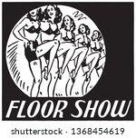 floor show   retro ad art banner | Shutterstock .eps vector #1368454619
