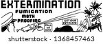 extermination   retro ad art... | Shutterstock .eps vector #1368457463